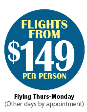Flights start from $149 per person